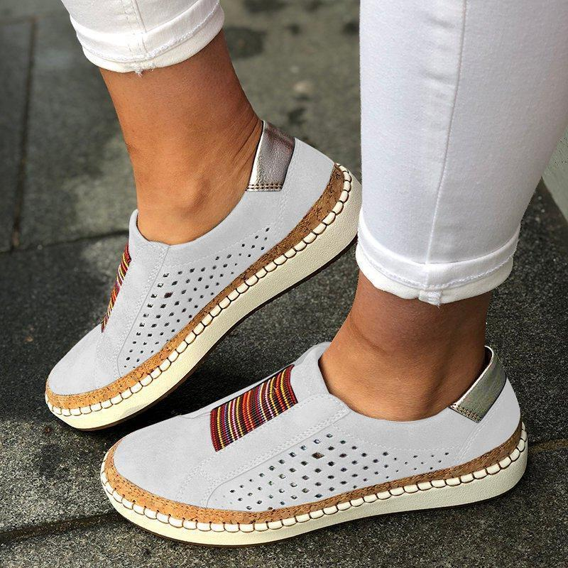 Well-Ventilated Sporting Multicolor Pattern Women Casual Sneakers