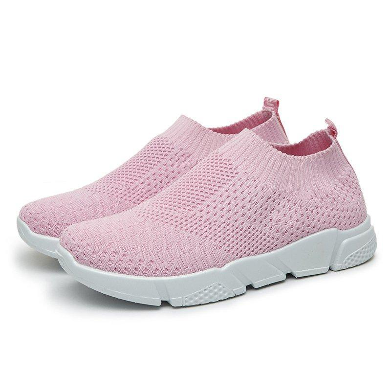 Well-Ventilated Sporting Casual Women Interweave Knit Sneakers