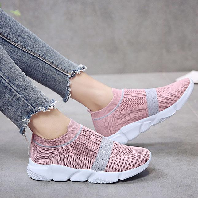 Well-Ventilated Hollow Knit Sporting Casual Sneakers