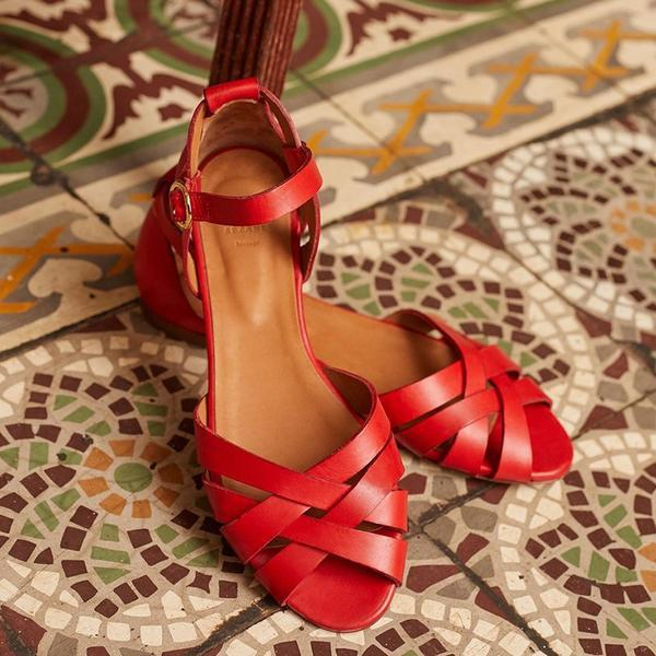 Interweave Peep Toe Hollow Summer Flat Sandals