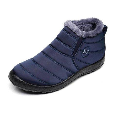 Water-Proof Plus Fur Lining Flat Comfy Boots