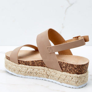 Straw-Weaved Platform Summer Women Sandals