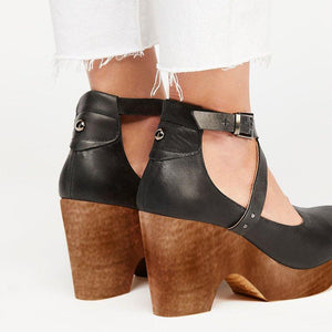 Ankle Strap High Heel Buckle Sandals