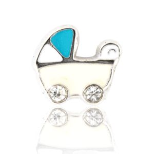 BABY CARRIAGE WITH CRYSTAL