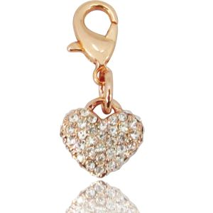 ROSE GOLD HEART WITH CRYSTAL