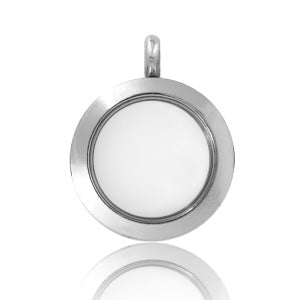 PLAIN SILVER LOCKET (SMALL 25MM)