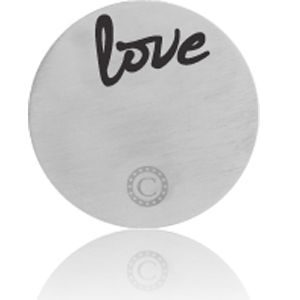 """LOVE"" BRUSHED SILVER"