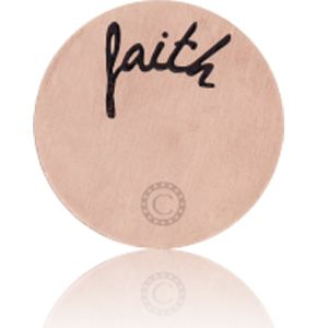 """FAITH"" BRUSHED ROSE GOLD"