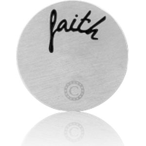 """FAITH"" BRUSHED SILVER"