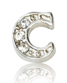 "ALPHABET ""C"" WITH CRYSTAL"