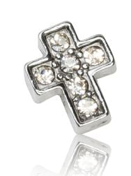SILVER CRYSTAL CROSS