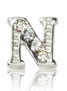 "ALPHABET ""N"" WITH CRYSTAL"
