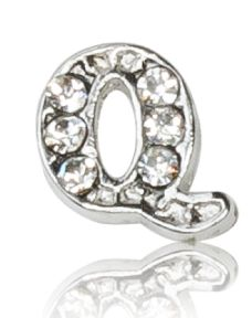 "ALPHABET ""Q"" WITH CRYSTAL"