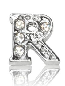 "ALPHABET ""R"" WITH CRYSTAL"
