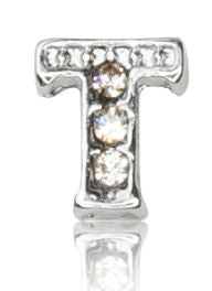 "ALPHABET ""T"" WITH CRYSTAL"