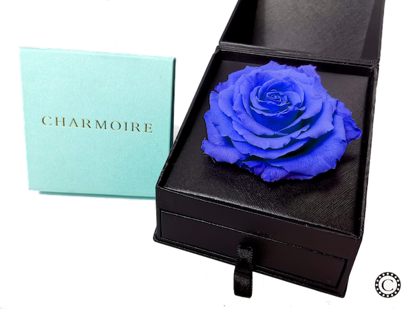 Charmoire Classic - Blue Rose With Locket