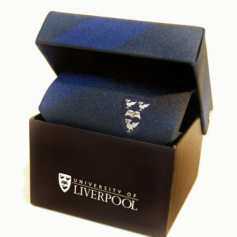 University Crested Pure Silk Tie