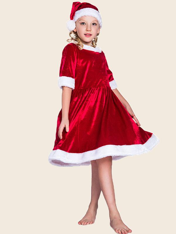 Children's Christmas Red Dress