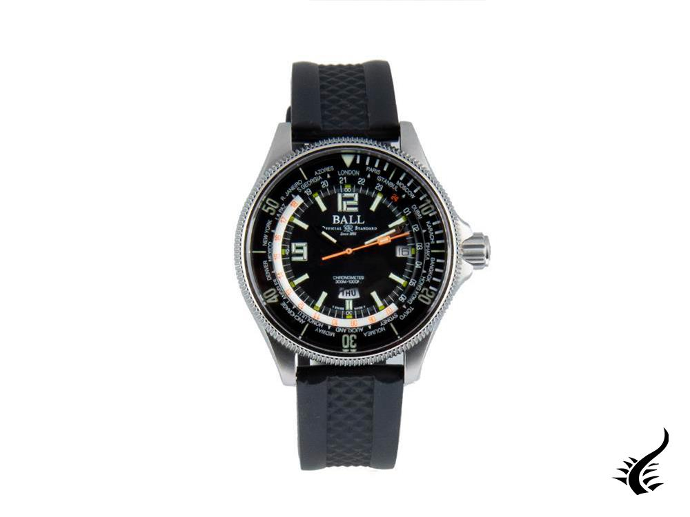 Ball Engineer Master II Diver Worldtimer Automatik Uhr, COSC, DG2232A-PC-BK