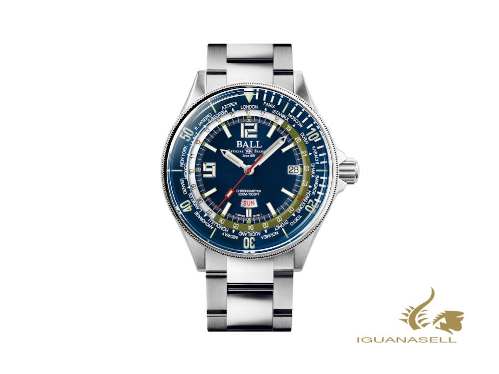 Ball Engineer Master II Diver Worldtimer Automatik Uhr, COSC, DG2232A-SC-BE