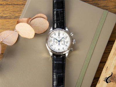 Ball Trainmaster Cannonball Automatik Uhr, Ball RR1401, Weiss, Chronograph