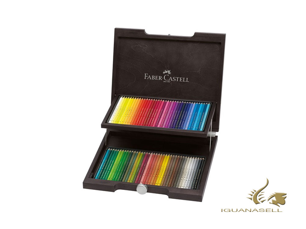 Faber-Castell Farbstift Polychromos Holzkoffer, x72,  110072