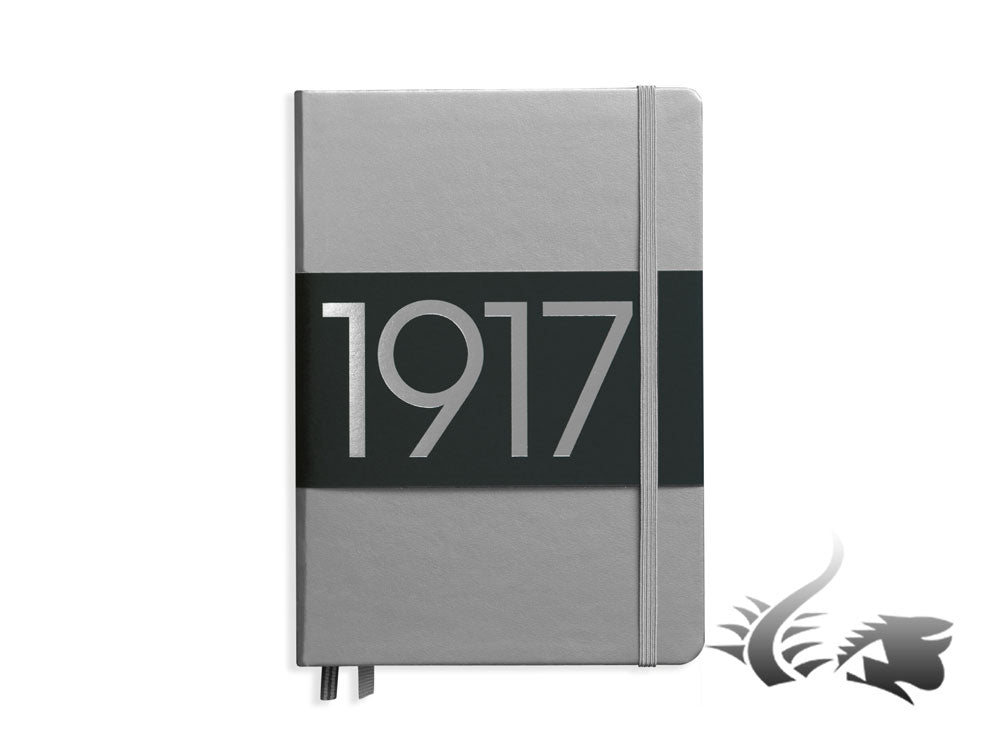 Leuchtturm1917 Metallic Edition Hardcover Notizbuch, Medium (A5), Dotted, Silber
