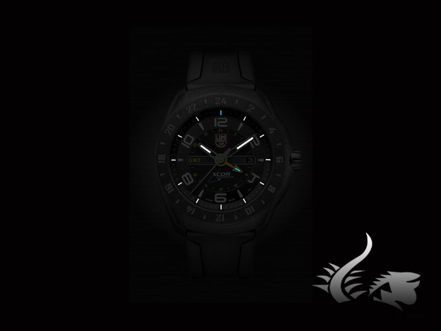 Luminox Space XCOR | SXC PC Carbon Quartz Uhr, Kautschukband, GMT, XU.5021