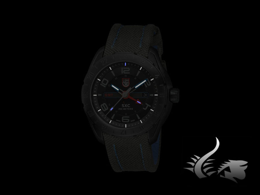 Luminox Space XCOR | SXC Steel Quartz Uhr, PVD, Textilband, GMT, XU.5121.GN