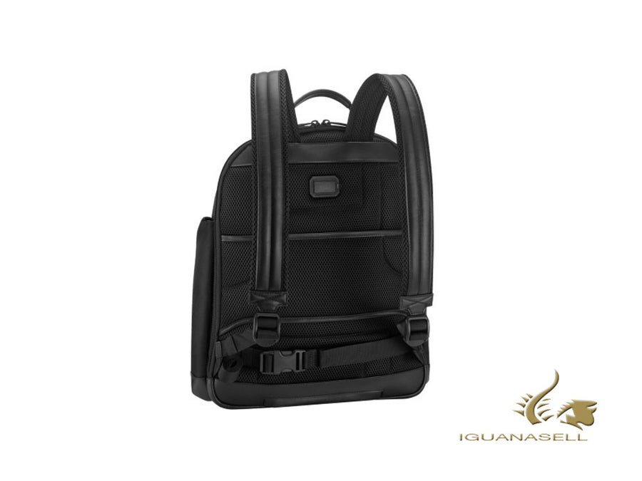 Montblanc Nightflight Rucksack Median, Nylon, Schwarz, Laptop-Fach, 119048