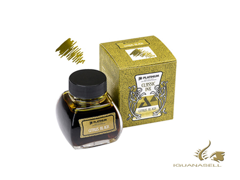 Platinum Tintenfass, 60ml, Citrus Black, INKK-2000-47