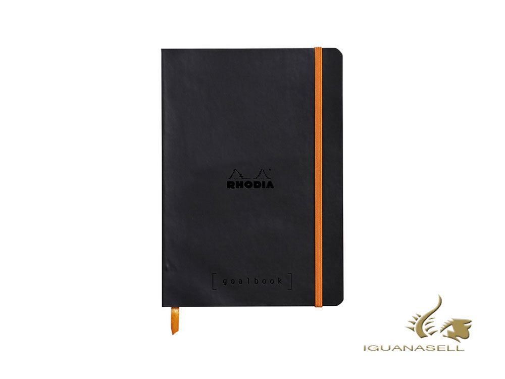 Rhodia Color Goalbook Notizbuch, A5, Softcover, Dotted, Schwarz, 117742C