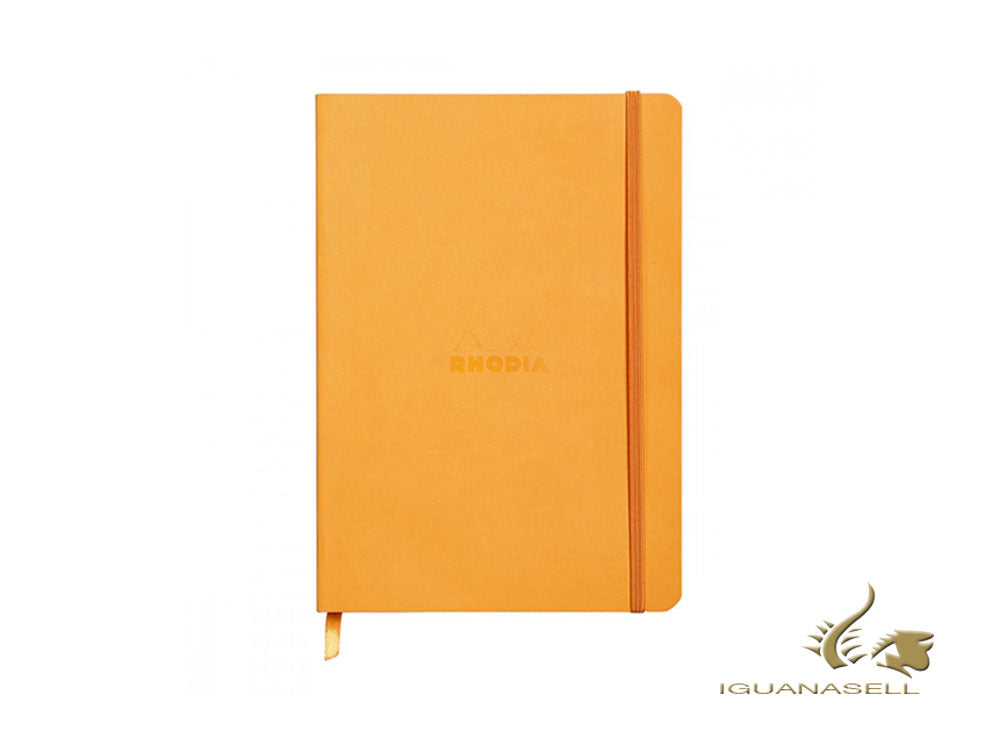 Rhodia-Rhodiarama Notizbuch, A5, Softcover, Dotted, Orange, 160 Seiten, 117465C