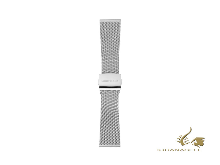 Montblanc Summit 2 Milanaise-Armband, Silber, 22mm, 119707