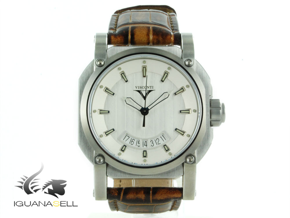 Visconti Earth W101 Up to Date Elegance Automatik Uhr, 42mm, Limitierte Edition