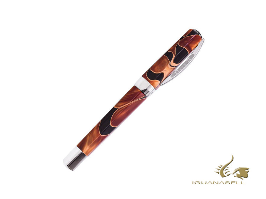 Visconti Vertigo Roller, Acryl, Schwarz, Orange, Palladium, KP13-807RL65