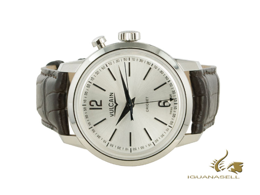 Vulcain 50s Presidents Tradition Manual Uhr, V-10, Silber, 39mm, 100153.295L
