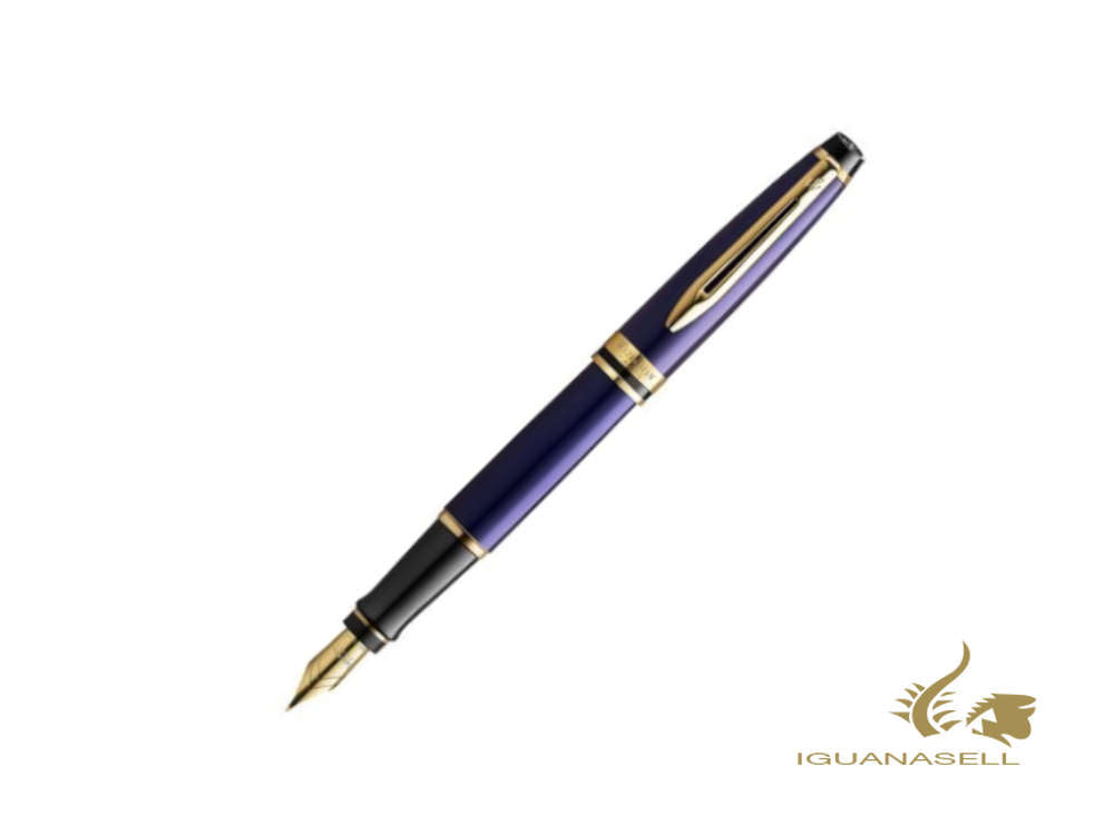 Waterman Expert Core Füllfederhalter, Messing, Palladium, Blau, 2093663