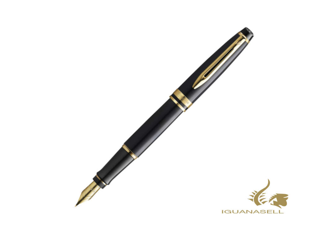 Waterman Expert Core Füllfederhalter, Messing, Schwarz, 2093662