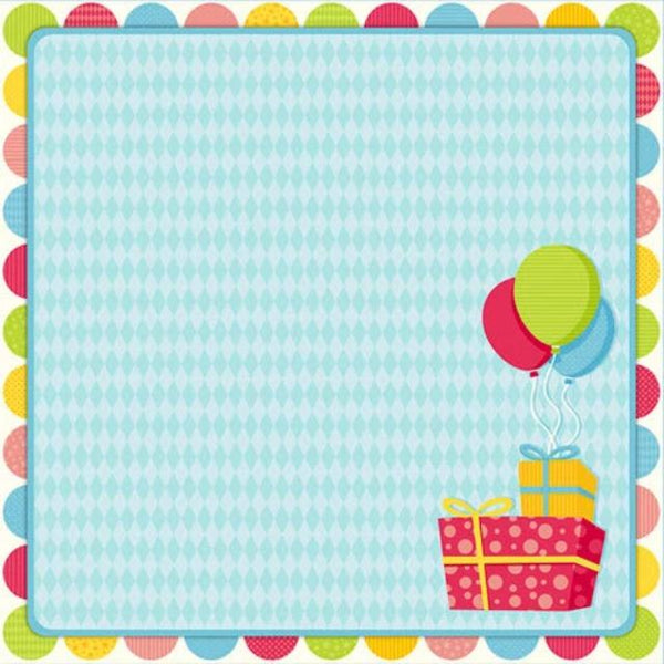 Birthday Gifts - Scrapbook Paper - 3D