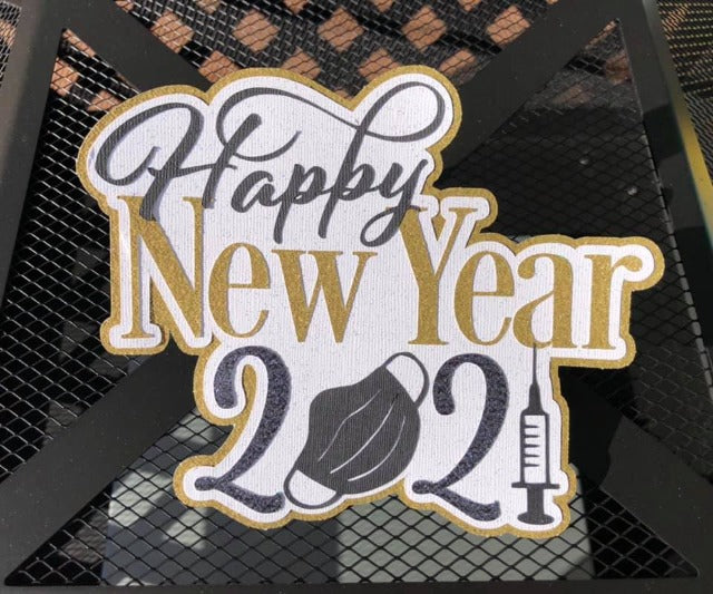 Happy New Year 2021 Die Cut