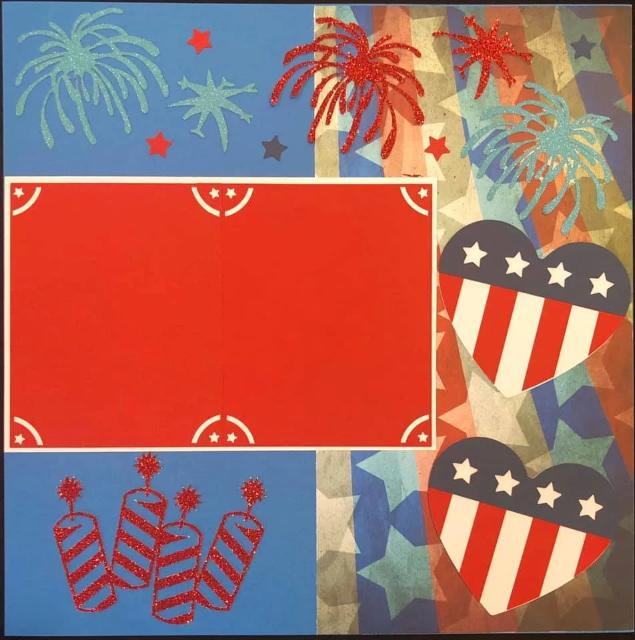 4th of July 2 Page Layout Kit
