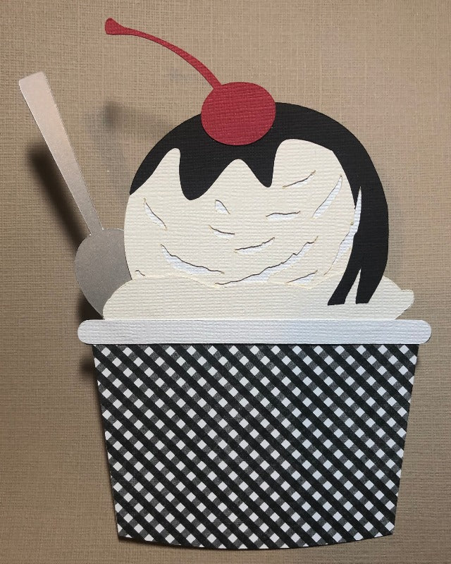 Ice Cream in a Cup Die Cut