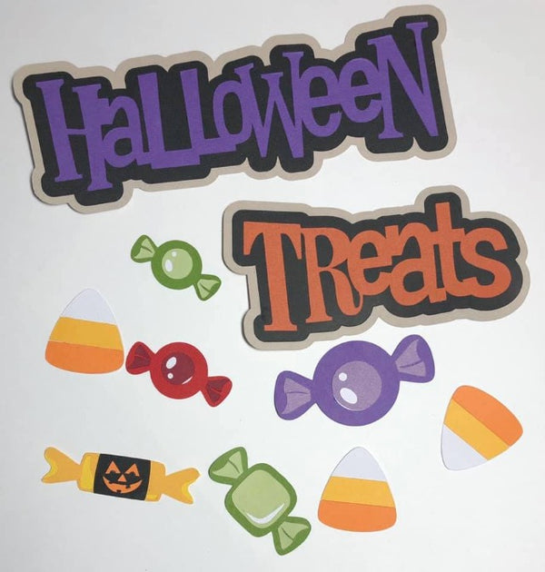 Halloween Treats Title with Candy Die Cuts