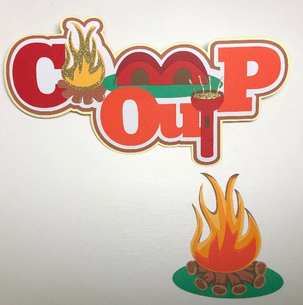 Camp Out Title & Camp Fire - Die Cuts