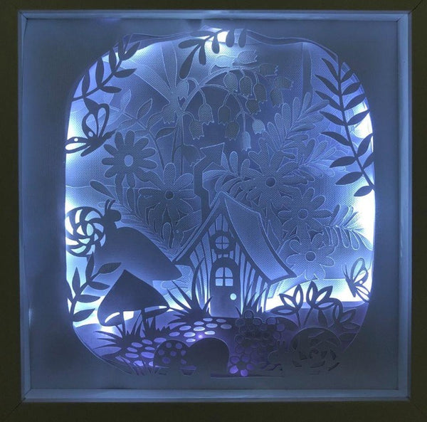 Paper Art Lighted Shadow Box DIY