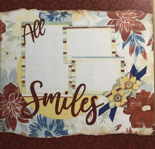 "All Smiles - (2) 12"" x 12"" Page Layouts"