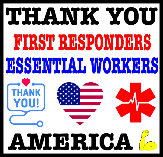 Thank You Sign for First Responders & Essential Workers