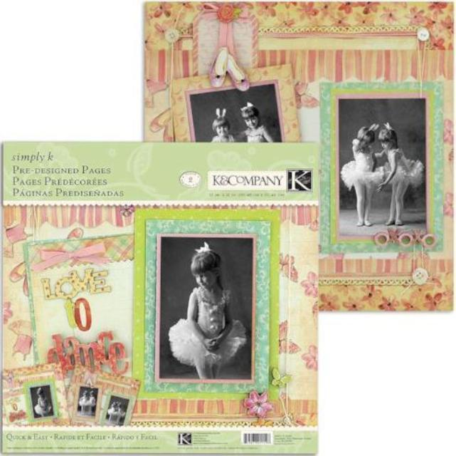 Ballerina Pre-Designed Pages by Simply K