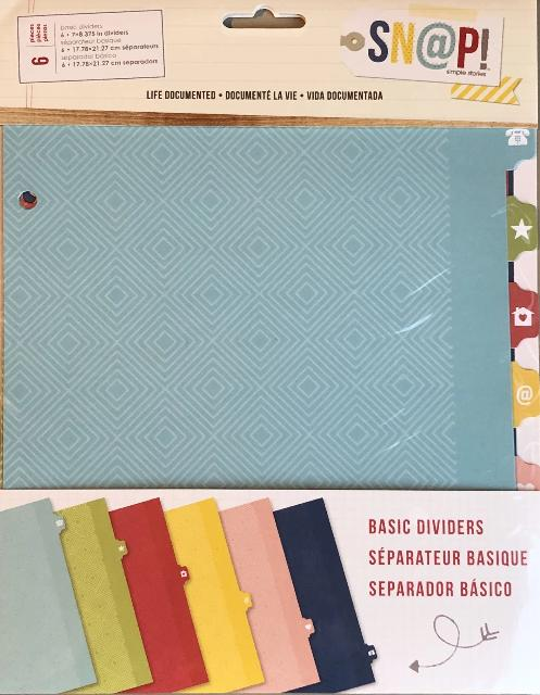 Life Documented Basic Dividers - Simple Stories